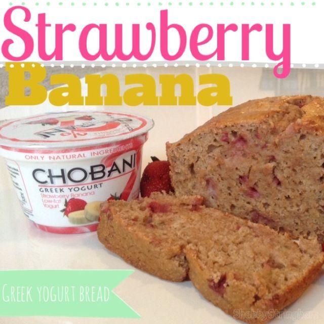 Strawberry Banana Greek Yogurt Bread   yummy and health   Pinterest
