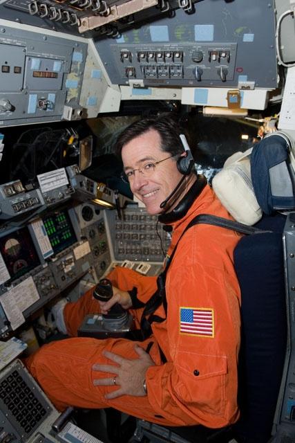 Stephen Colbert at NASA. :) Going where no man has gone before.