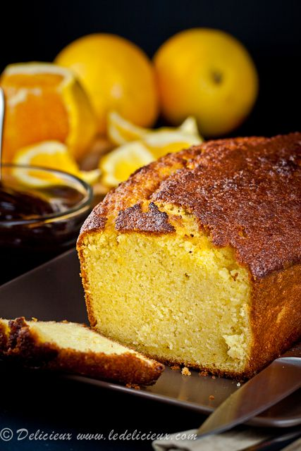 Orange Olive Oil Cake with Orange Compote & Chocolate Sauce