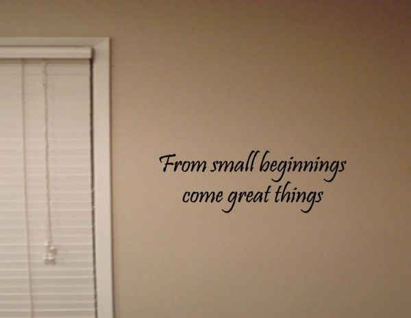 from small beginnings - photo #33