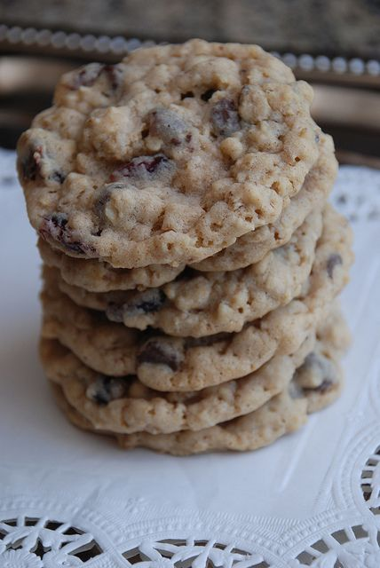 Dark chocolate chip, cranberry, oatmeal cookies