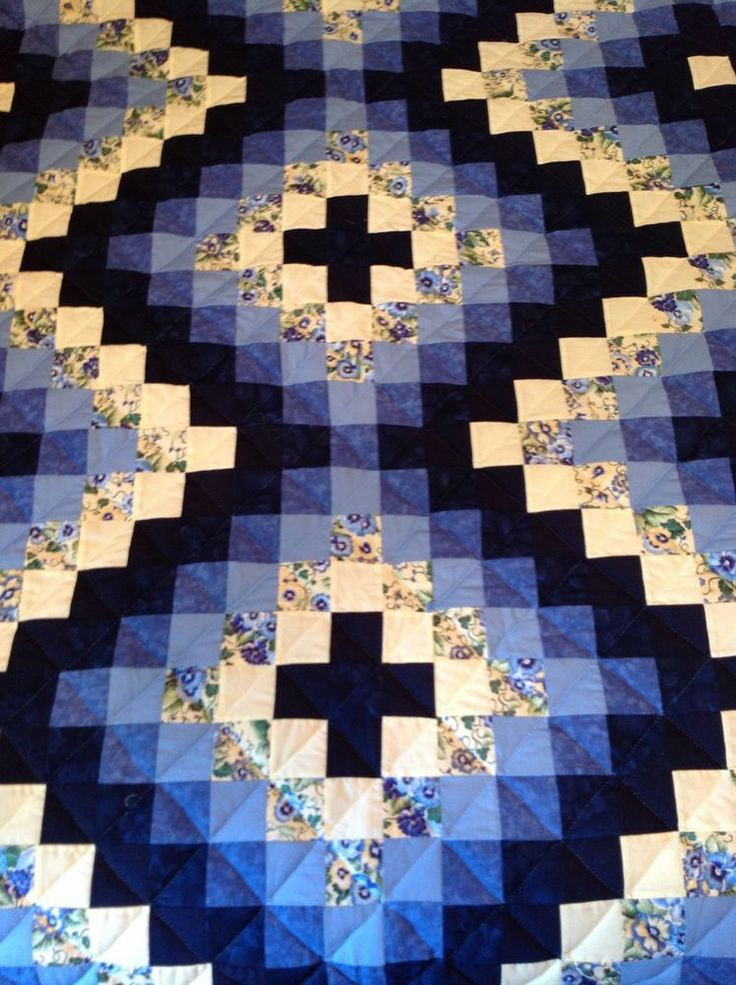 Amish Quilt Many Trips Around The World Pattern