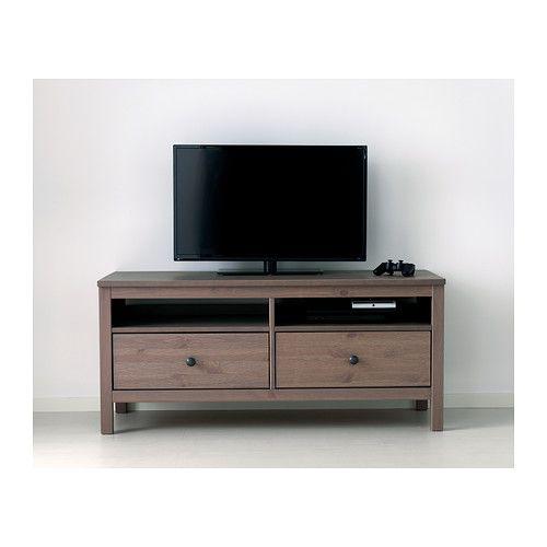 Hemnes Tv Unit Light Brown : HEMNES+TV+Unit+Black+Brown HEMNES TV bench IKEA Solid wood has a