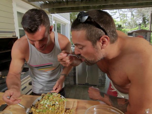 """Watch the Kitchen Cousins cook in their all-new ulive series """"Chill & Grill."""" Read our interview with John Colaneri and Anthony Carrino here>> http://blog.diynetwork.com/maderemade/2014/08/05/creative-genius-the-kitchen-cousins-can-cook-too/?soc=pinterest"""