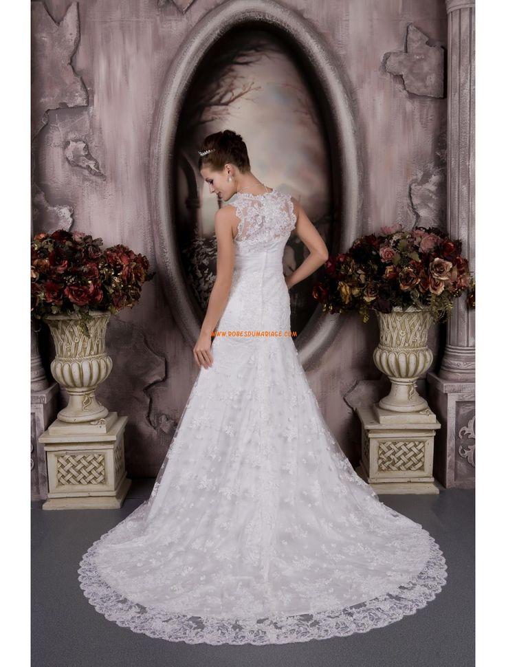 Dentelle Robe de mariée traîne moyenne  robe de mariée Cergy ...