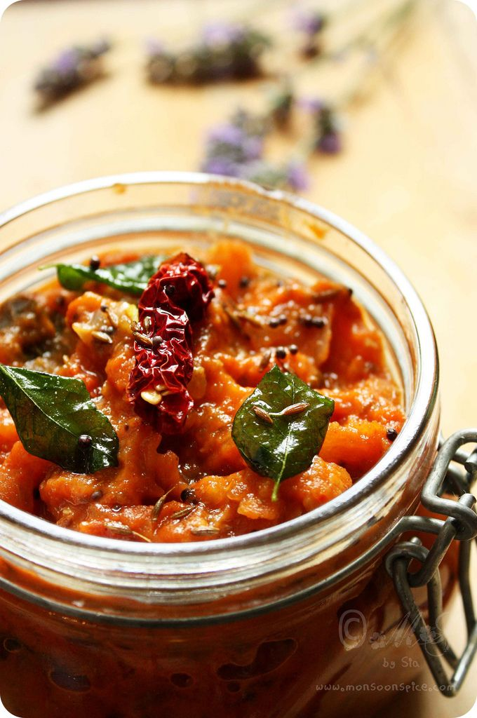 Spicy Tomato Chutney/Relish Recipe for Tomato Lovers - Monsoon Spice ...