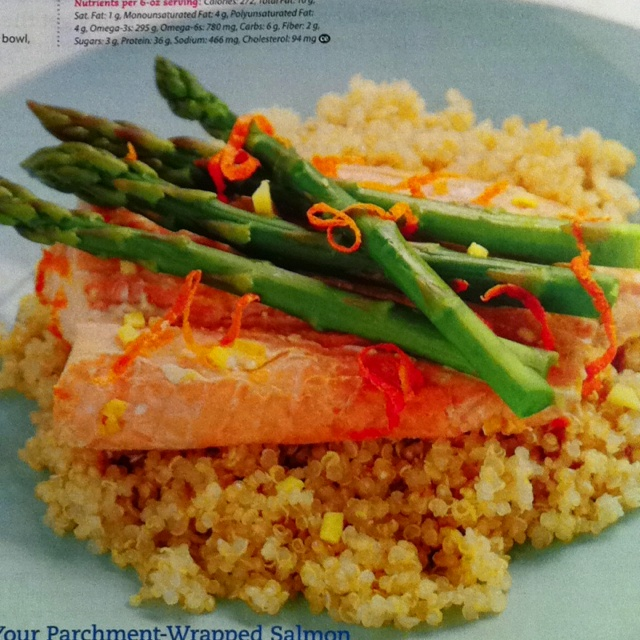 Delicious orange salmon with asparagus for supper tonight from Clean ...