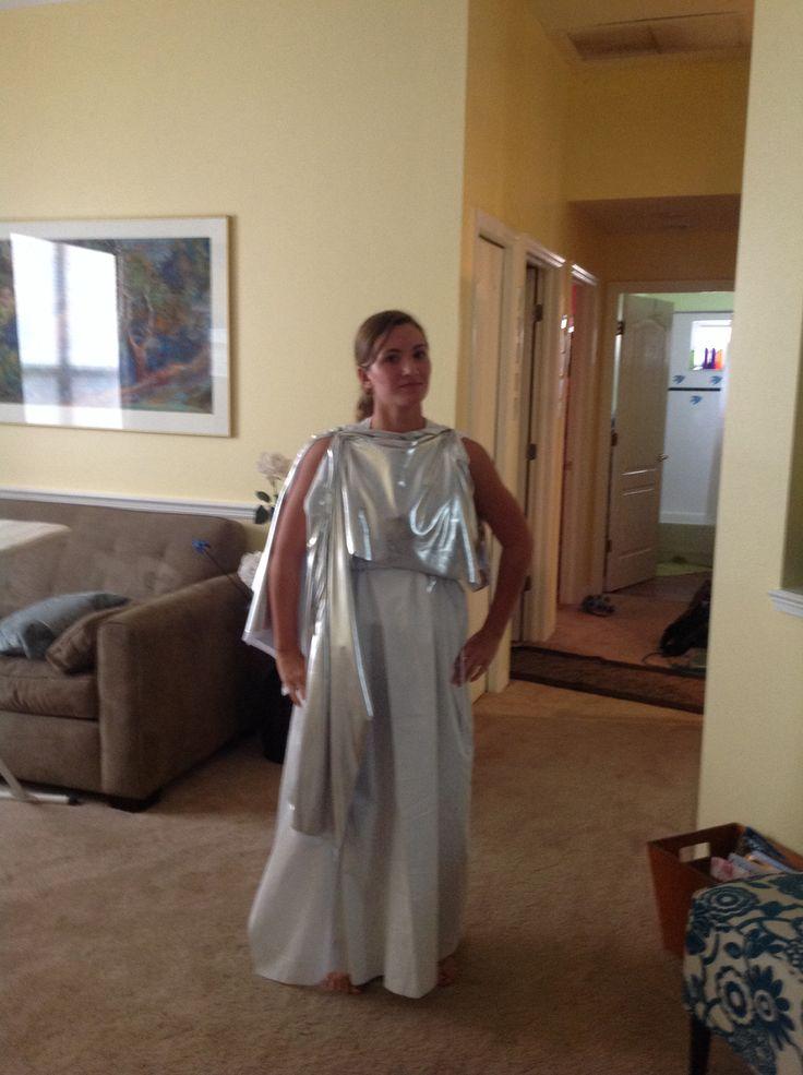 Diy costume of greek goddess selene greek costumes pinterest