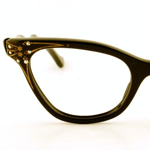 Vintage Women Black Cat Eyeglass E.I. Frames France ...