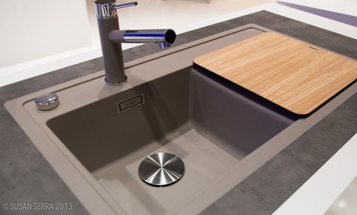 Blanco Truffle Sink : coordinated faucet and double bowl BLANCO sink in the color: TRUFFLE ...
