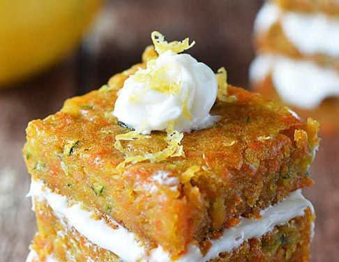 Carrot Zucchini Bars | For the Love of Food | Pinterest