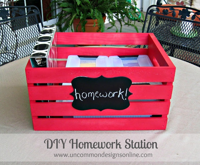 Homework Station { Portable DIY Crate }... | Uncommon