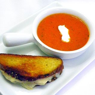 Spicy Sriracha Tomato and Blue Cheese Soup... Hints of Oriental spices ...