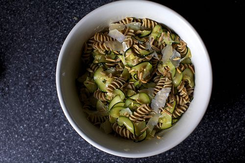 zucchini and almond pasta salad | recipes | Pinterest
