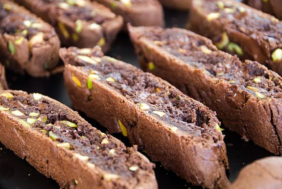 Chocolate pistachio biscotti cookie recipe | use real butter