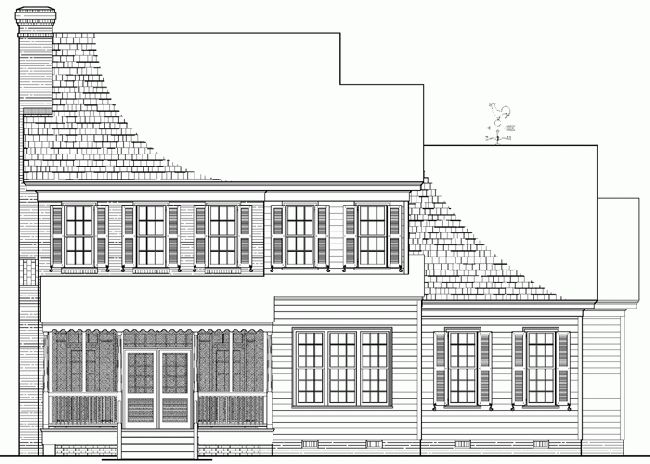 Rear view house plans pinterest Rear view home plans