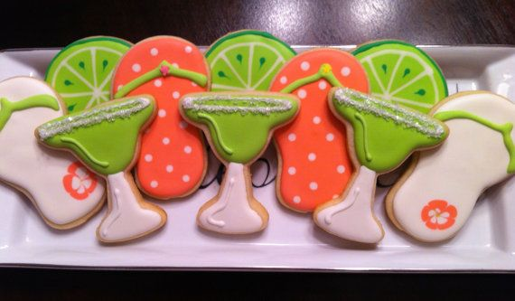 Margarita Summer Party Sugar Cookies by TheRunningCookie on Etsy, $28 ...