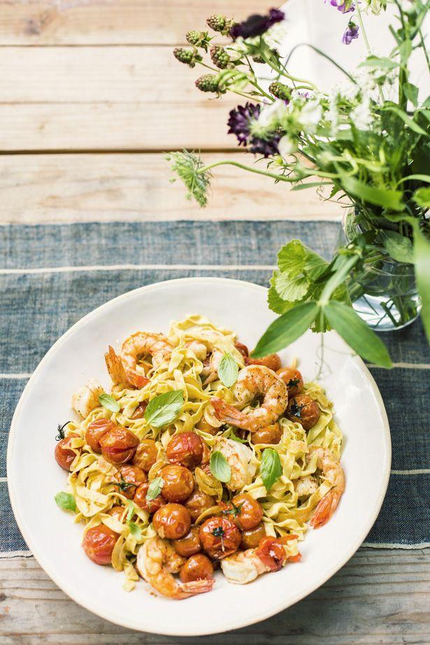 Roasted tomato and shrimp fettucine. | Iedvesma izvirtībām virtuvē ...