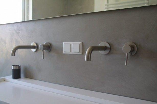 Luxe Badkamers Op Maat ~ Mooi gestucte muur kranen  For the Home  Bathroom  Pinterest
