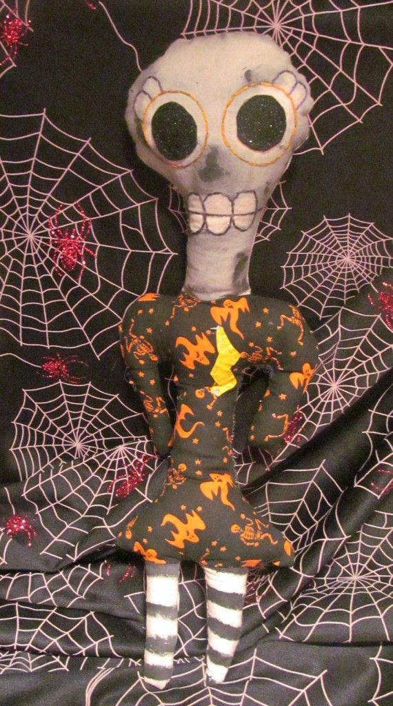 Koko Kreepies Halloween Doll Steffie  Handmade Plushies + Fiber Art