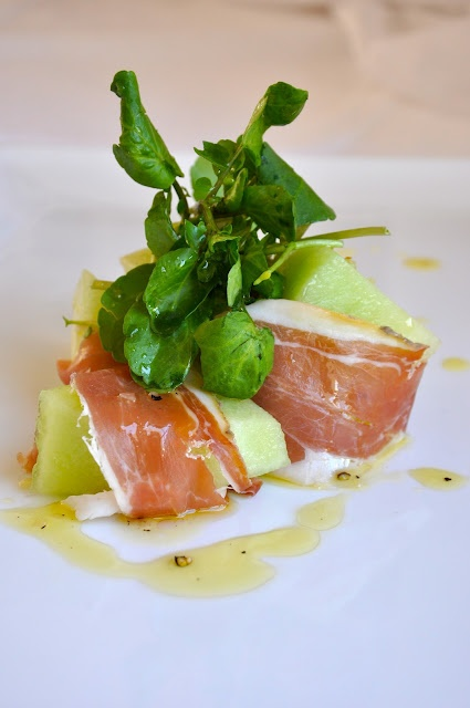 Parma ham and sweet melon starter | Food and Drink | Pinterest