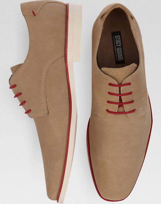 Stacy Adams Tremain Brown Suede Lace Up Shoes | Men's Wearhouse