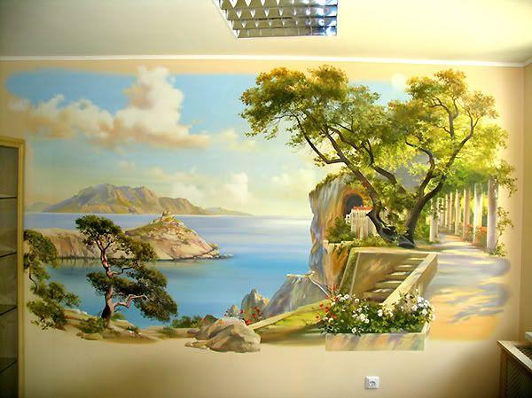 Пейзаж на стену своими руками 36
