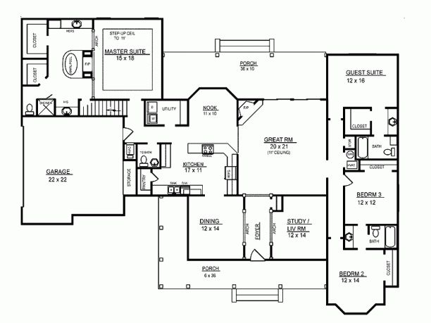 2974 Sq Ft With Bonus Room Floor Plans Pinterest