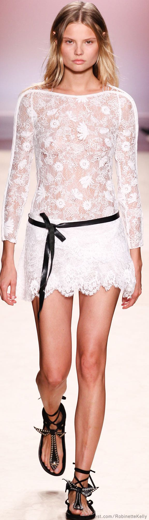 I think this would be beautiful as a long dress.  Isabel Marant | S/S 2014 little white lace dress
