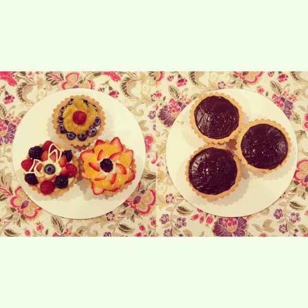 Fruit and Ganache Tarts :D | Eten en drinken/foot | Pinterest