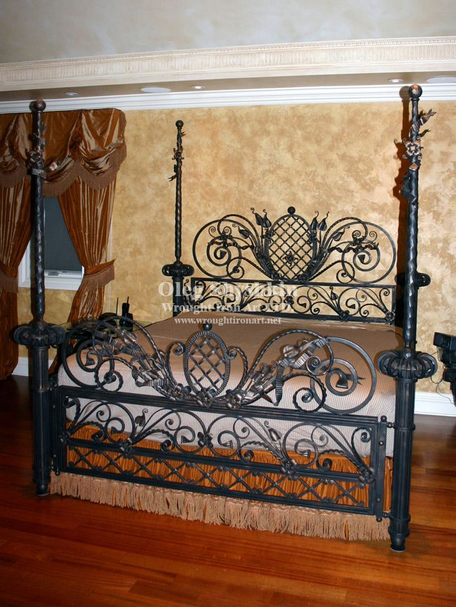 Wrought iron bed wrought iron beds pinterest for Wrought iron bed