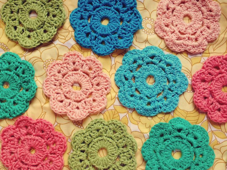 Crochet Flowers Vintage | Sewing Ideas | Pinterest