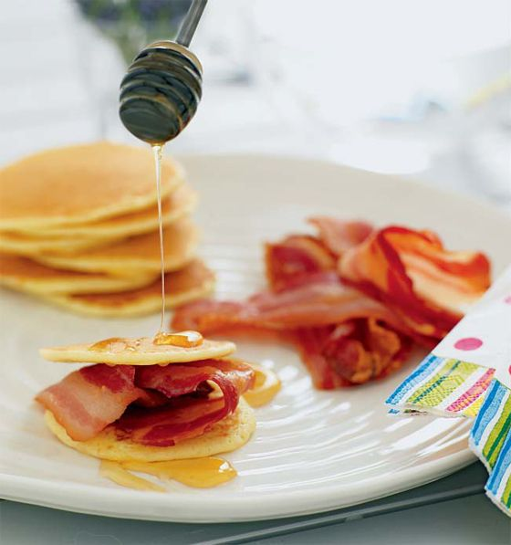 Drop scones with bacon & honey drizzle | The most important meal of t ...
