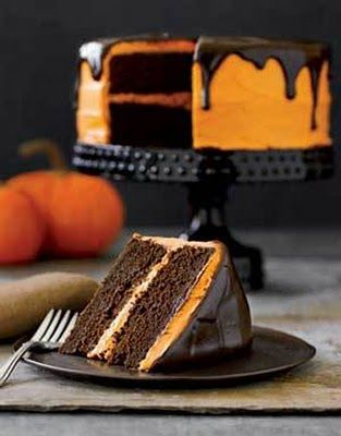 halloween treat: chocolate pumpkin cake