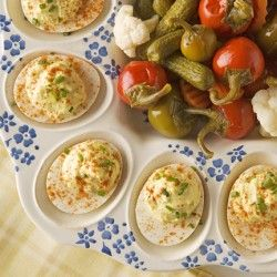 Creamy Deviled Eggs | Recipes | Pinterest