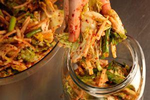 Basic Napa Cabbage Kimchi (Kimchee) Recipe -- uses korean salted ...