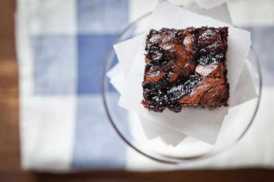 Gluten Free Blueberry Citrus Marble Brownies
