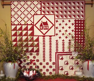 On display at Prairie Point Quilts red and white show thorugh February 29