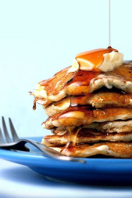 Cornmeal Pancakes with Orange Maple Butter - blueberries and cornmeal ...
