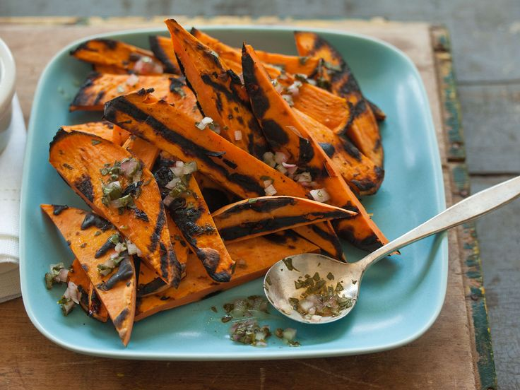 Grilled Sweet Potatoes with Cilantro-Lime Dressing | Recipe