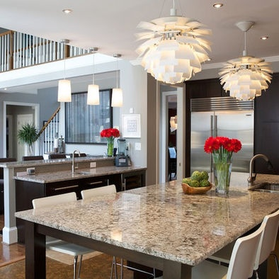 Contemporary kitchen island lighting lighting over for Contemporary kitchen island lighting