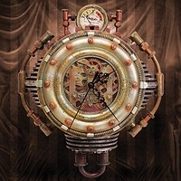 Steampunk wall clock. It reminds me a bit of City of Ember.