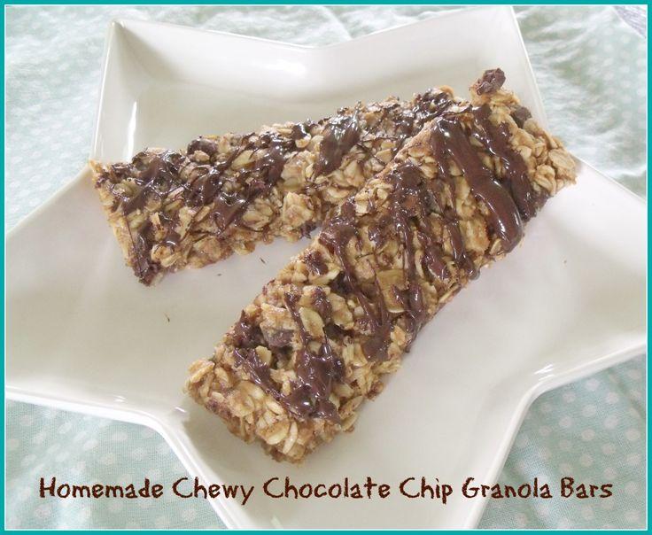 Recipe: Chewy Chocolate Chip Granola Bars - BurlingtonVT Moms Blog