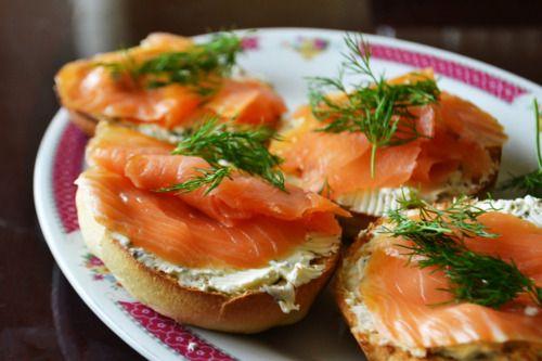 Open-Faced Smoked Salmon Sandwich | Food | Pinterest