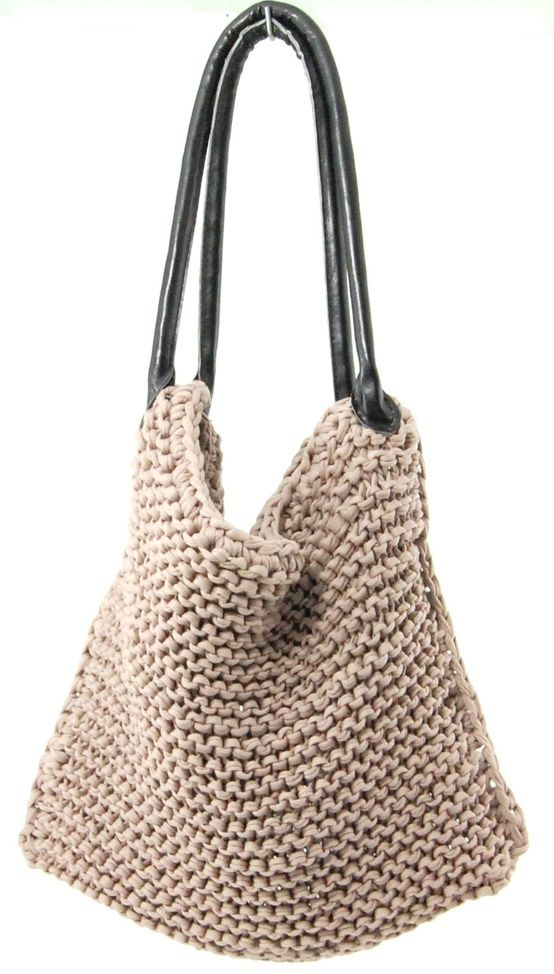 Crochet Knitting Tutorial : DIY Knitted Bag Tutorial Bags Pinterest