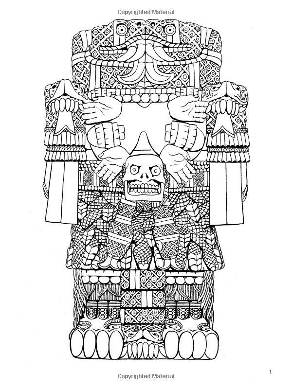 Aztec Designs Coloring Pages Aztec Designs Coloring