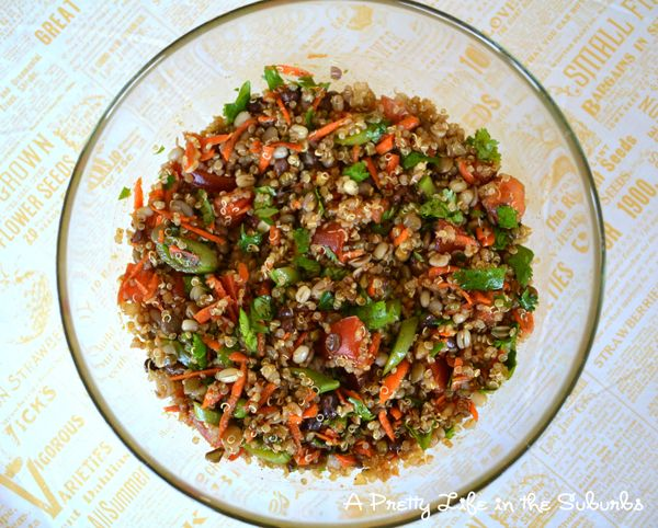 Curry Quinoa & Sprouted Bean Salad | Recipe