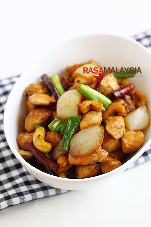 Spicy Chicken with Cashew Nuts | Easy Asian Recipes at RasaMalaysia ...