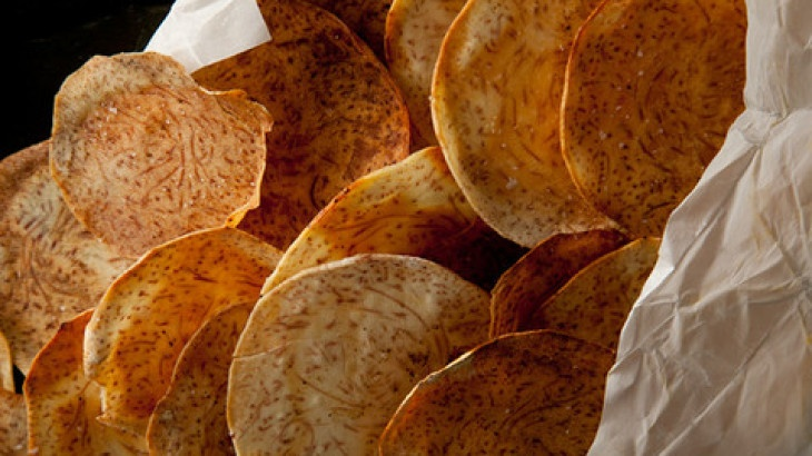 Taro Chips Recipe | Food | Pinterest