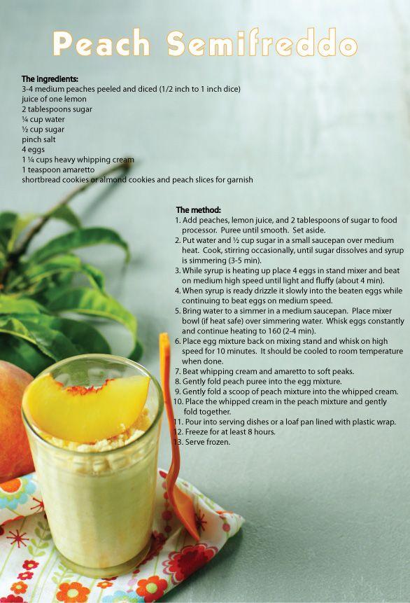 Peach Semifreddo | Dessert Tray | Pinterest